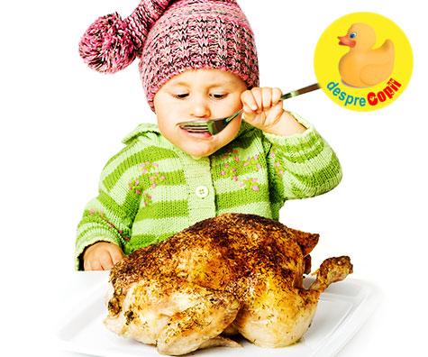 Introducerea carnii si a proteinelor in alimentatia bebelusului