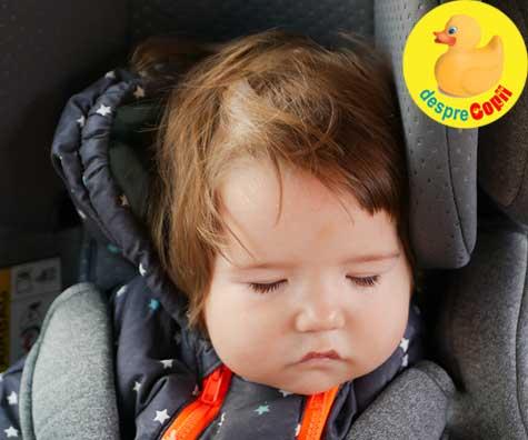 Bebelusii adorm mai usor in masina - Iata de ce plimbarile cu masina il adorm pe bebelus
