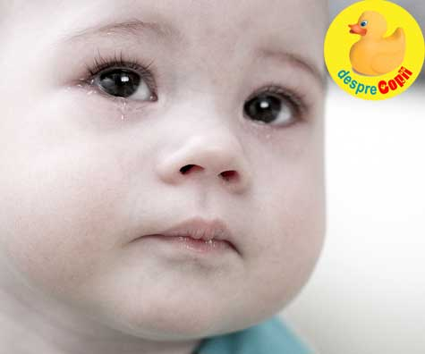 Bebelusului ii lacrimeaza ochisorii: ce facem pentru a evita complicatiile unui canal lacrimal infectat