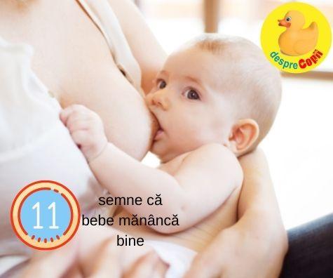 11 semne care te ajuta sa stii daca bebelusul alaptat mananca suficient
