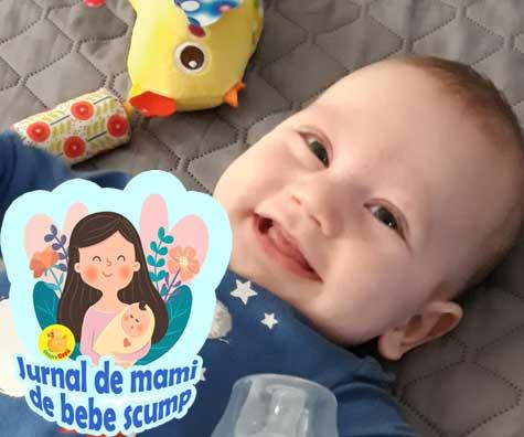 Bebe a invatat mersul de-a busilea si rostogolitul - jurnal de mami de bebe scump
