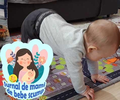 Ura, bebe a stat pentru prima data in picioare - jurnal de mami de bebe scump