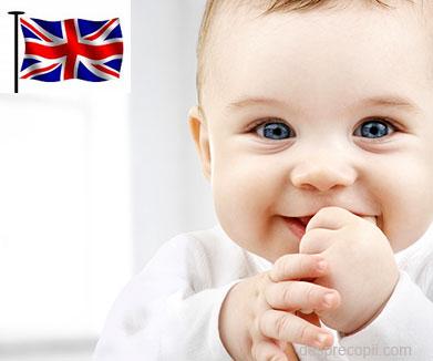 Cele mai populare nume date bebelusilor in Marea Britanie - 2014