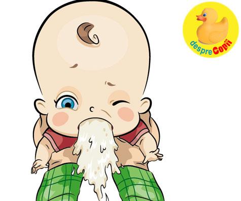 Varsaturile bebelusului - De ce vomita bebe si ce pot face?