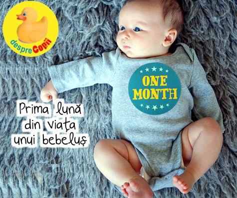 Prima luna din viata unui bebelus: ingrijire, hranire, dezvoltare - repere