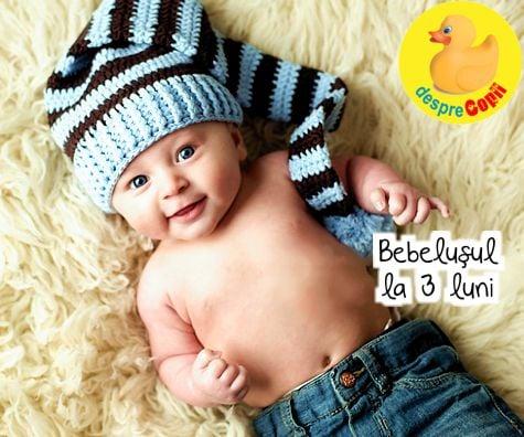 Bebelusul la 3 luni: avem deja un program si incepem sa recunoastem lumea