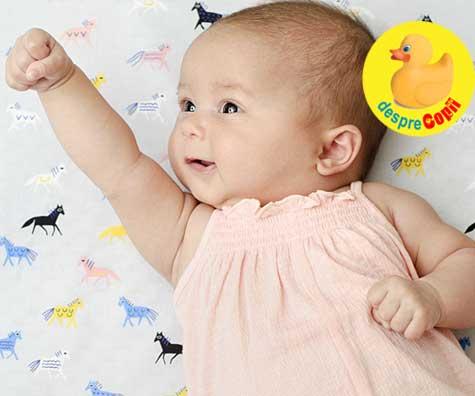 Bebelusul in Saptamana 9. Chiote si veselie dar apar primele probleme de somn.