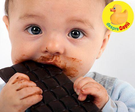 Bebelusul si ciocolata