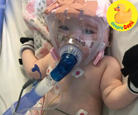 Bebelus cu probleme cardice infectat cu Covid-19. Stati acasa pentru el si pentru alti copilasi vulnerabili.
