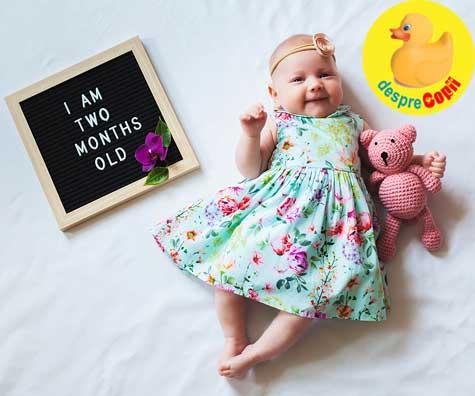 Cat creste in greutate si lungime bebelusul de 2 luni? Iata care sunt valorile medii si ce trebuie urmarit.
