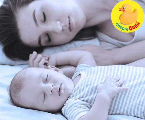 Dormitul in acelasi pat cu bebelusul este periculos pentru viata lui - mai bine sa stii decat sa ai regrete