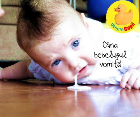 Cand bebelusul vomita (re-gurgiteaza): ce trebuie sa stii