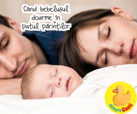 Cand bebelusul doarme in patul parintilor: avantaje, dezavantaje si variante recomandate