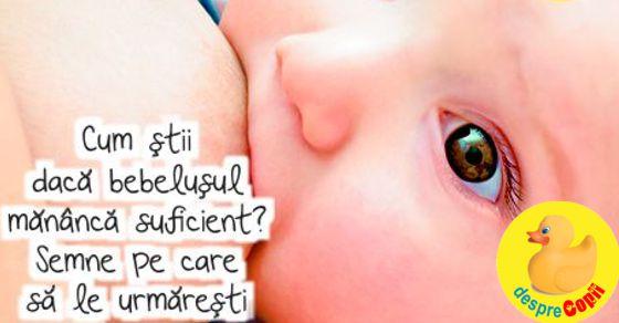 Cum stii daca bebelusul mananca suficient? Semne pe care sa le urmaresti