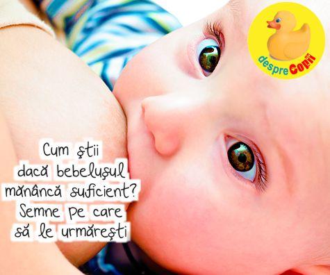 Cum stii daca bebelusul mananca suficient lapte? Semne pe care trebuie sa le urmaresti