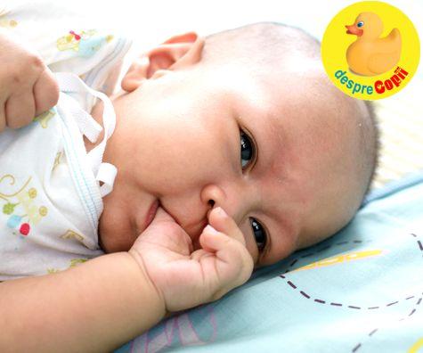 Cand bebelusul isi suge degetul