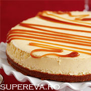 Cheesecake cu topping caramel