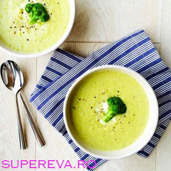 Supa crema de broccoli cu Cheddar