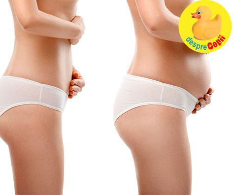 Dimensiunea si forma burticii de gravida pe trimestre - GHID util