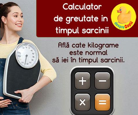 Calculator de greutate in sarcina