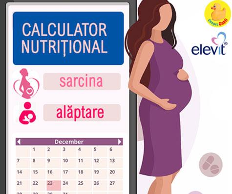 Calculatorul nutritional pentru sarcina si alaptare: vezi saptamanal ce nutrienti sunt necesari pentru un bebe sanatos
