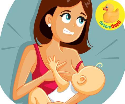 Alaptezi si bebelusul musca sanul? Iata cum se procedeaza.