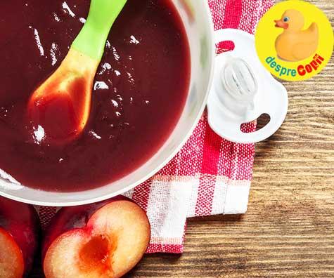 Cand putem da prune bebelusului - si 11 retete cu prune pentru bebelusi