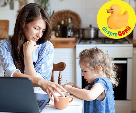 Ce faci cand trebuie sa lucrezi acasa, dar copiii se plictisesc? Iata cateva strategii care pot usura situatia.