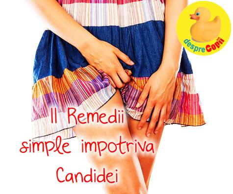 11 Remedii simple impotriva Candidei