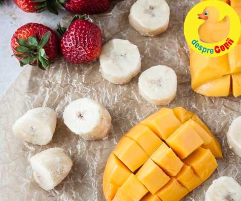 Piure de mango si capsuni - reteta pentru bebelusi