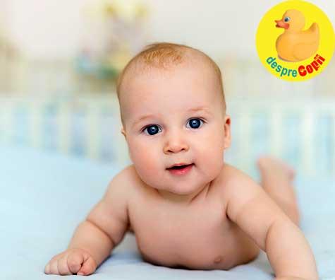 Capul bebelusului: cum evolueaza modul in care bebe isi tine capul - DIAGRAMA