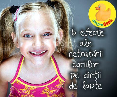 Dintii de lapte sunt foarte importanti. Iata 6 efecte ale netratarii cariilor pe dintii de lapte la copii.
