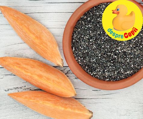 Cartofi dulci cu seminte de chia - reteta pentru bebelusi