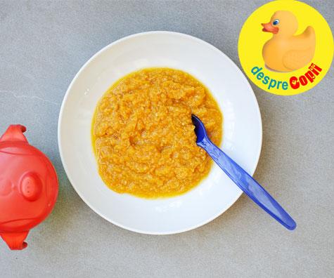 Piure de cartof dulce cu pui - reteta pentru bebelusi