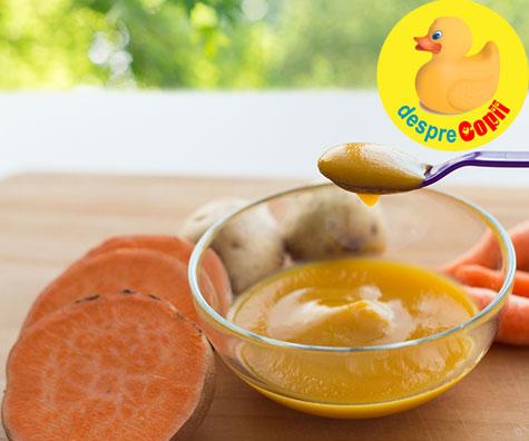 Piure de cartof dulce si mar - reteta pentru bebelusi