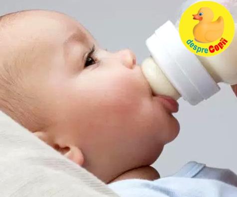 Cat lapte bea bebelusul in primul an? 4 intrebari esentiale.