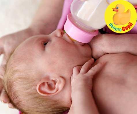 Bebelusul hranit cu lapte formula - DIAGRAMA cu cantitatea si programul de hranire