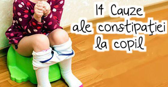 14 Cauze ale constipatiei la copil