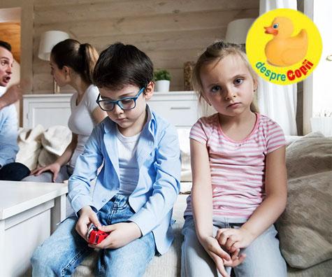 Efectul certurilor parintilor asupra copiilor este major. Iata cum te poti certa corect in fata copiilor