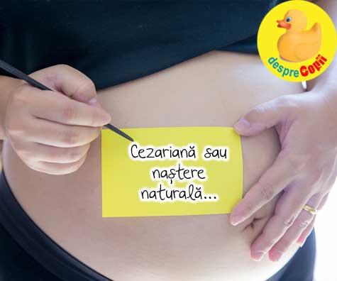 Cezariana sau nastere naturala - decizie majora in saptamana 35 - jurnal de sarcina