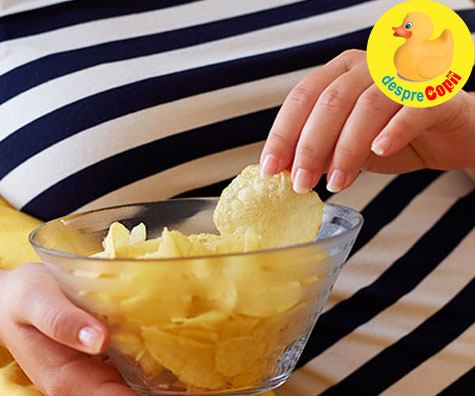 Painea prajita si chipsurile, otravurile din timpul sarcinii - alimente riscante care pot afecta sanatatea bebelusului