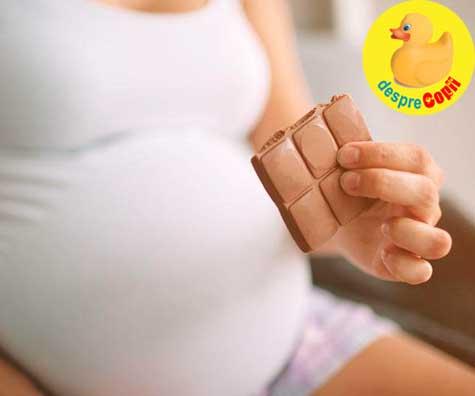 Esti insarcinata si iti place ciocolata? Avem vesti bune