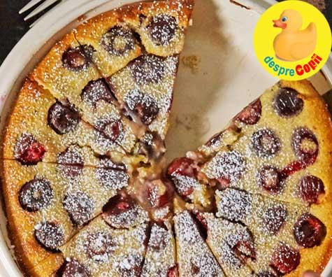 Clafoutis de cirese - tarta ideala de fructe a lunii mai