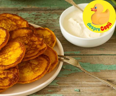 Clatite din cartof dulce - reteta pentru copii si bebelusi