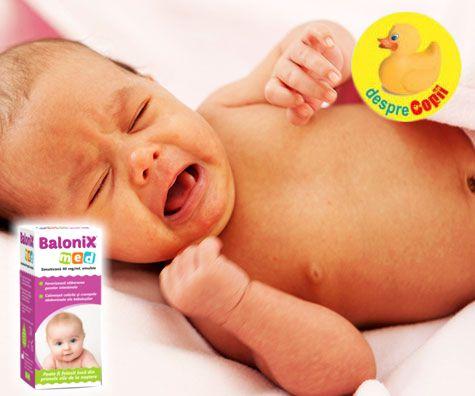 Cand colicile si crampele bebelusului sunt cauzate de excesul de gaze abdominale