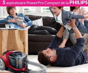 Castiga unul din cele cinci aspiratoare Philips si alte premii!