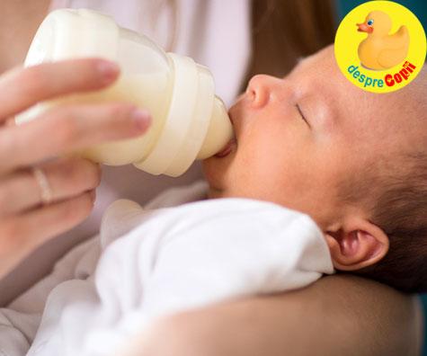 Laptele formula si constipatia bebelusului: Ce trebuie sa stii