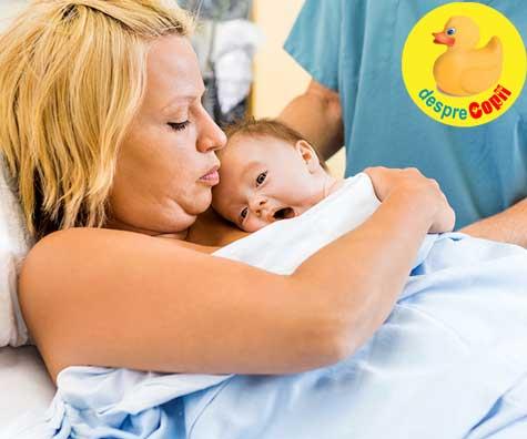 Decizii importante de luat pentru copil inainte de nastere: contactul piele pe piele cu bebe imediat dupa nastere