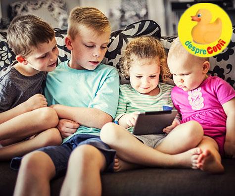 Copiii isi petrec prea mult timp in fata ecranelor: reguli si consecinte