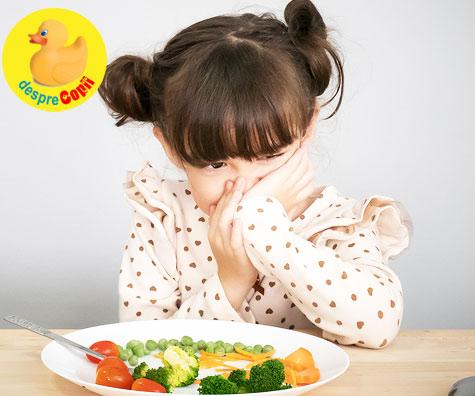 Cauze posibile pentru lipsa poftei de mancare a copilului
